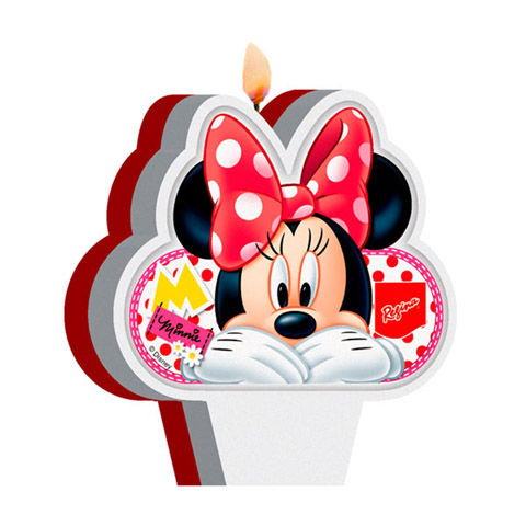 Vela Minnie Vermelha Festabox