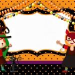 Halloween Menina – Kit Completo com molduras para convites, rótulos para guloseimas, lembrancinhas e imagens!