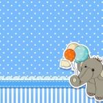 Chá de Bebê Elefantinho – Kit Completo com molduras para convites, rótulos para guloseimas, lembrancinhas e imagens!