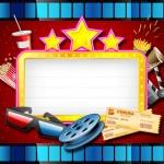 Cinema – Mini Kit com molduras para convites, rótulos para guloseimas, lembrancinhas,imagens e plaquinhas divertidas!