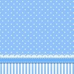 Poá Azul e Listras – Kit Completo com molduras para convites, rótulos para guloseimas, lembrancinhas e imagens!