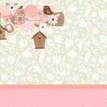 Passarinhos e Flores – Kit Completo com molduras para convites, rótulos para guloseimas, lembrancinhas e imagens!