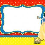Branca de Neve – Kit Completo com molduras para convites, rótulos para guloseimas, lembrancinhas e imagens!