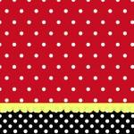 Vermelho e Preto Poá – Kit Completo com molduras para convites, rótulos para guloseimas, lembrancinhas e imagens!