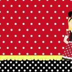 Menina Loira Minnie – Kit Completo com molduras para convites, rótulos para guloseimas, lembrancinhas e imagens!