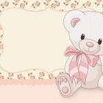 Ursinha Floral Rosa – Kit Completo com molduras para convites, rótulos para guloseimas, lembrancinhas e imagens!