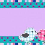 Passarinhos Rosa e Azul – Kit Completo com molduras para convites, rótulos para guloseimas, lembrancinhas e imagens!