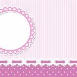 Lilás Listrado e Poá Roxo – Kit Completo com molduras para convites, rótulos para guloseimas, lembrancinhas e imagens!