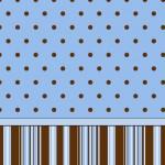 Poá e Listras Marrom e Azul – Kit Completo com molduras para convites, rótulos para guloseimas, lembrancinhas e imagens!