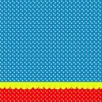 Poá Vermelho e Azul – Kit Completo com molduras para convites, rótulos para guloseimas, lembrancinhas e imagens!