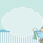 Chá de Bebê ou Chá de Fraldas Menino – Kit Completo com molduras para convites, rótulos para guloseimas, lembrancinhas e imagens!