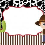 Cowboy – Kit Completo com molduras para convites, rótulos para guloseimas, lembrancinhas e imagens!