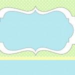 Poá Verde e Azul – Kit Completo com molduras para convites, rótulos para guloseimas, lembrancinhas e imagens!