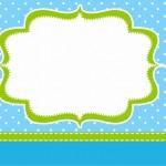 Poá Azul e Verde Limão – Kit Completo com molduras para convites, rótulos para guloseimas, lembrancinhas e imagens!