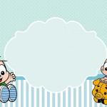 Cebolinha e Cascão Baby – Kit Completo com molduras para convites, rótulos para guloseimas, lembrancinhas e imagens!