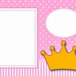 Coroa Princesa – Kit Completo com molduras para convites, rótulos para guloseimas, lembrancinhas e imagens!