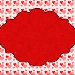 Coração e Vermelho Poá – Kit Completo com molduras para convites, rótulos para guloseimas, lembrancinhas e imagens!
