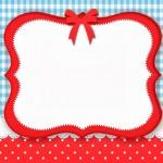 Poá Vermelho e Xadrez Azul – Kit Completo com molduras para convites, rótulos para guloseimas, lembrancinhas e imagens!