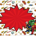 Esquadrão de Heróis – Kit Completo com molduras para convites, rótulos para guloseimas, lembrancinhas e imagens!