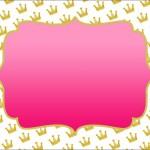 Coroa e Rosa – Kit Completo com molduras para convites, rótulos para guloseimas, lembrancinhas e imagens!