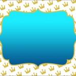 Coroa e Azul – Kit Completo com molduras para convites, rótulos para guloseimas, lembrancinhas e imagens!