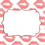 Fundo Beijos – Kit Completo com molduras para convites, rótulos para guloseimas, lembrancinhas e imagens!