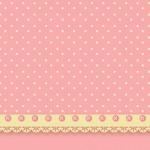 Poá Rosa e Bege – Kit Completo com molduras para convites, rótulos para guloseimas, lembrancinhas e imagens!