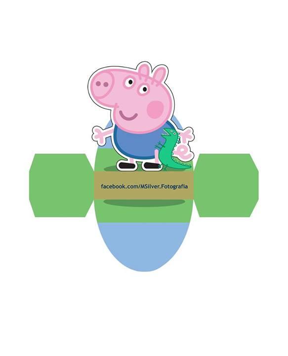 Caixa Vestido George Pig - Clique, abra a imagem em outra guia e salve!
