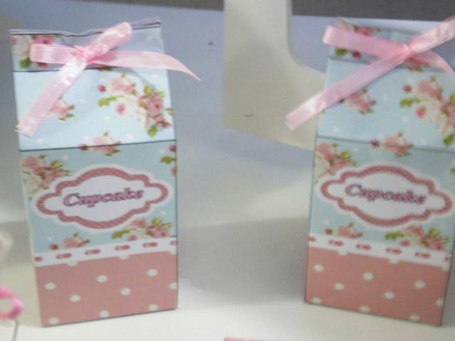 Caixinha com Cupcake
