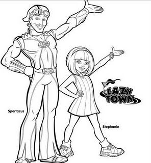 Imagens para colorir lazy town for Lazy town coloring pages