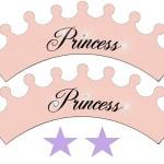 Toppers e Wrappers para Cupcakes de Princesas!