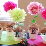 Vaso com Flores de Pom Pom de Papel!