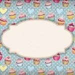Cupcakes  – Kit Completo Digital com molduras para convites, rótulos para guloseimas, lembrancinhas e imagens!