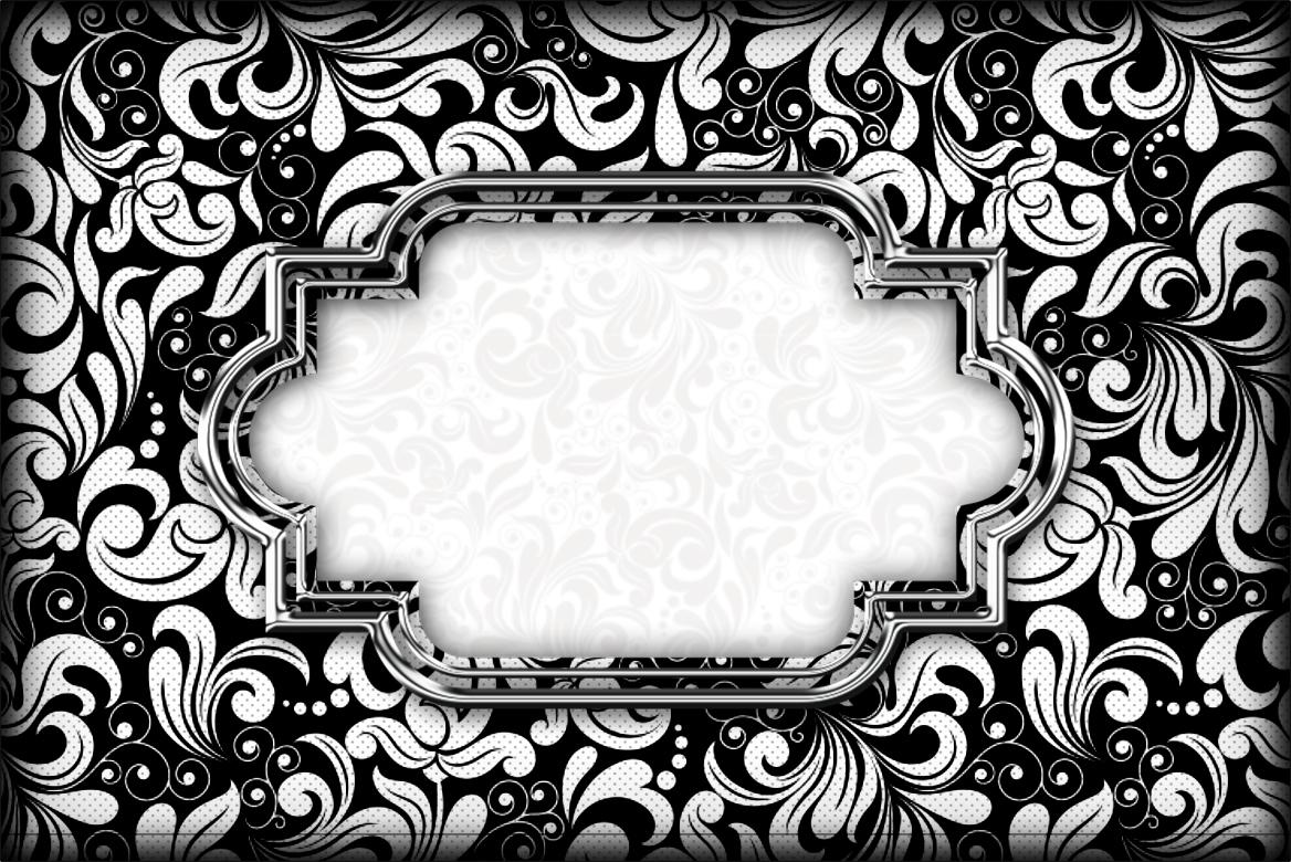 Black and White Invitations Printable Free