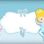Bailarina Loira Poá Azul –  Kit Completo Digital com molduras para convites, rótulos para guloseimas, lembrancinhas e imagens!
