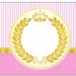 Coroa Princesa Rosa – Kit Completo Digital com molduras para convites, rótulos para guloseimas, lembrancinhas e imagens!