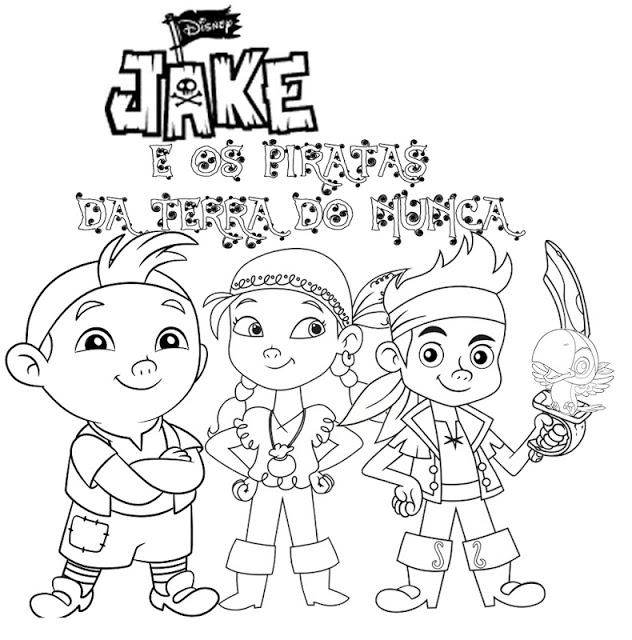 jake e os piratas da terra do nunca imagens para colorir