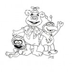 Imagens dos Muppets para Colorir!