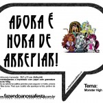 Plaquinhas Divertidas da Monster High em Preto: