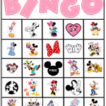 Bingo de Personagens Disney!