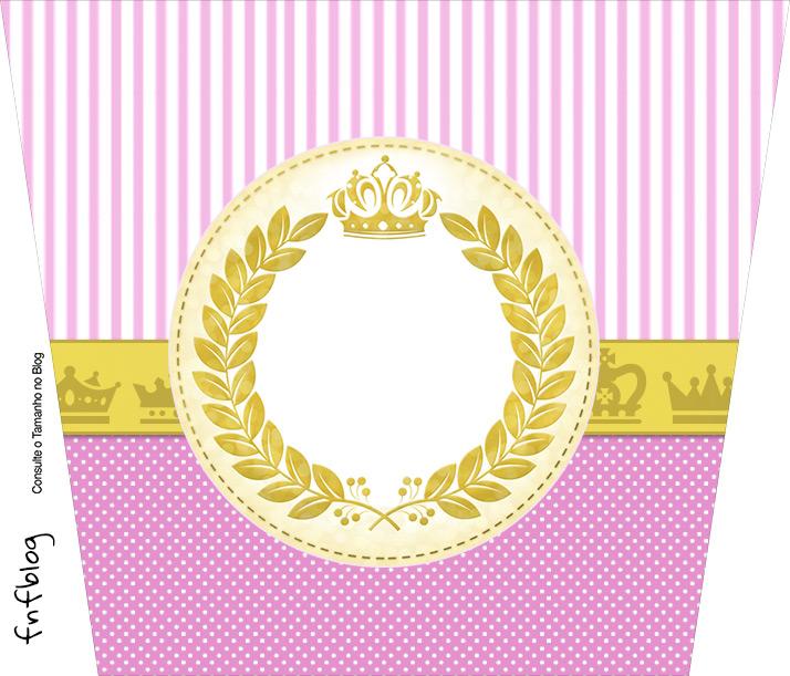 Pote de Pipoca Coroa de Princesa