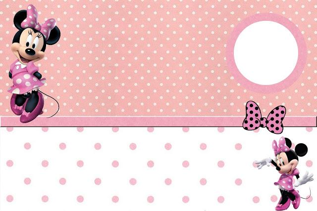 fotos jardim quadrado:Minnie Rosa – Kit Completo com molduras para convites, rótulos para