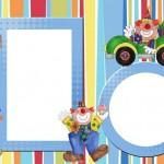Circo Palhacinho Fofo – Kit Completo com molduras para convites, rótulos para guloseimas, lembrancinhas e imagens!