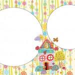 Jardim Casinha de Bonecas – Kit Completo com molduras para convites, rótulos para guloseimas, lembrancinhas e imagens!