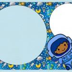 Astronauta – Kit Completo com molduras para convites, rótulos para guloseimas, lembrancinhas e imagens!