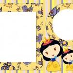 Branca de Neve Menina – Kit Completo com molduras para convites, rótulos para guloseimas, lembrancinhas e imagens!