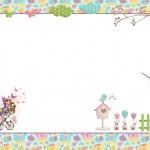Jardim de Flores Rosa e Azul – Kit Completo com molduras para convites, rótulos para guloseimas, lembrancinhas e imagens!
