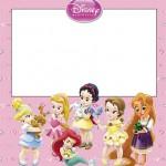 Princesas Disney Baby (Todas Juntas) – Kit Completo com molduras para convites, rótulos para guloseimas, lembrancinhas e imagens!