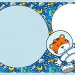 Astronauta Tigre – Kit Completo com molduras para convites, rótulos para guloseimas, lembrancinhas e imagens!