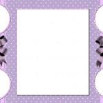 Branco e Lilás – Kit completo com molduras para convites e rótulos para guloseimas e lembrancinhas e imagens